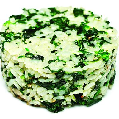 Рис со шпинатом сливочный